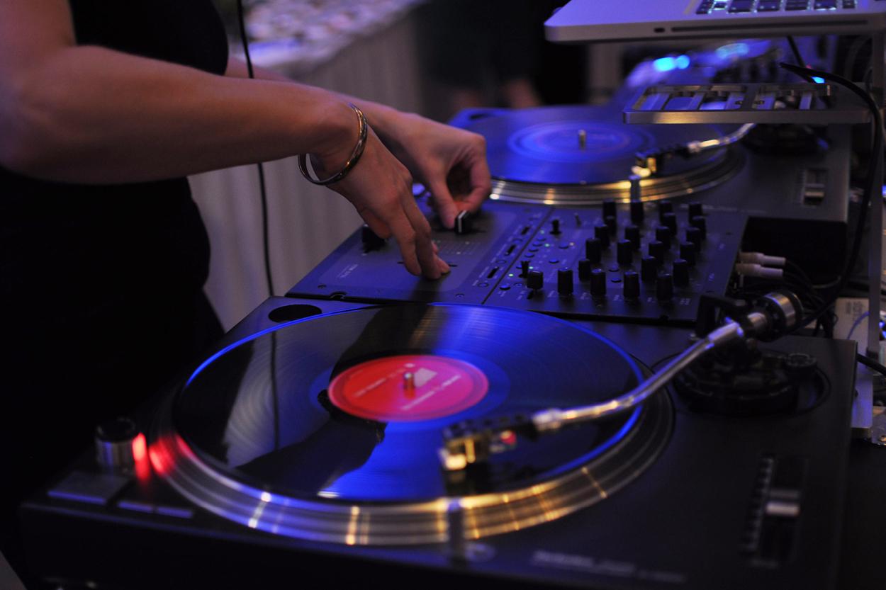DJ spinning a record