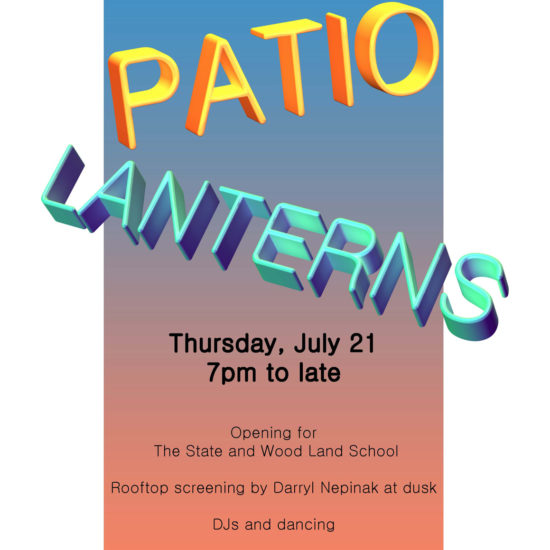 Summer patio lanterns party 2016