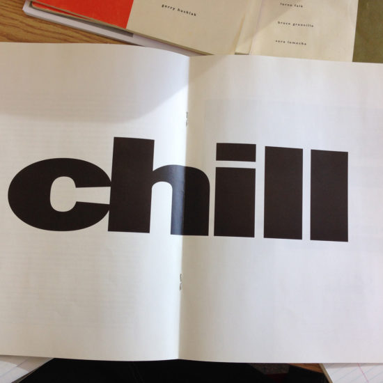 Charles Cousins, CHILL, Original insert for The Harold (1992)