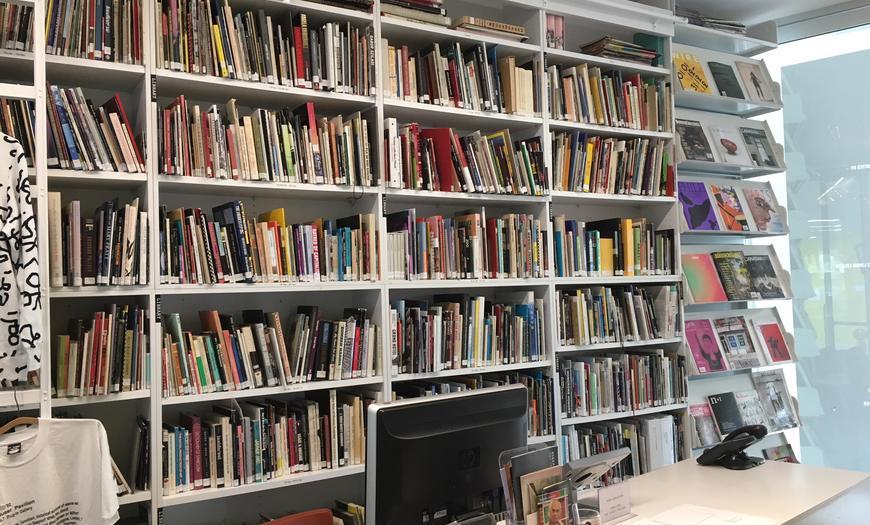 library, bookstore, art research centre, plug in ica, piica