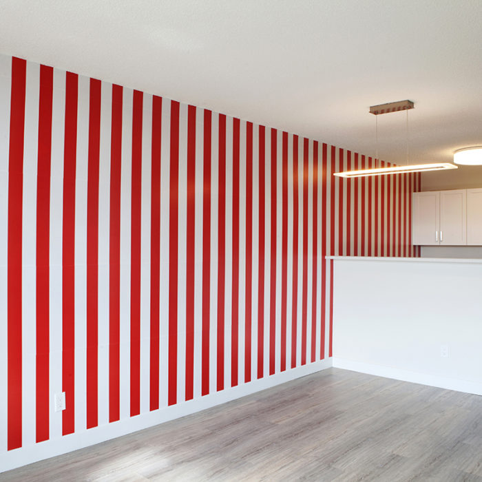 Daniel Buren, LIMITED TIME ONLY! In-situ intervention; various coloured posters.
