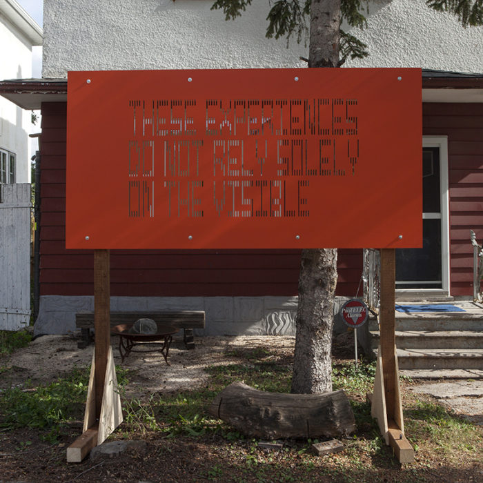 Raymond Boisjoly, An artwork in five parts Text-based sculptures in four locations
