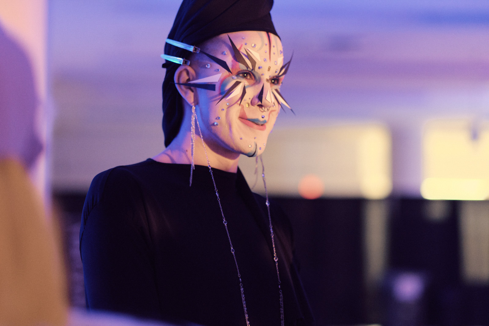 Face painted person, Gala 2019